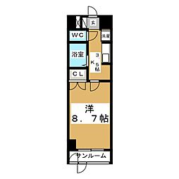 スプリングアベニュー[3階]の間取り