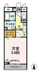 都営三田線 西巣鴨駅 徒歩9分の賃貸マンション 2階1Kの間取り