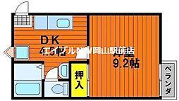 岡山県岡山市中区竹田丁目なしの賃貸アパートの間取り