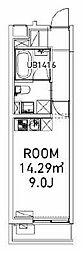 東京メトロ南北線 東大前駅 徒歩6分の賃貸マンション 1階ワンルームの間取り