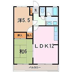 静岡県駿東郡長泉町納米里の賃貸アパートの間取り