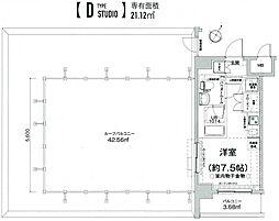クラリッサ横浜フロード 10階ワンルームの間取り