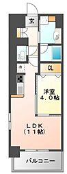 江坂和[2階]の間取り