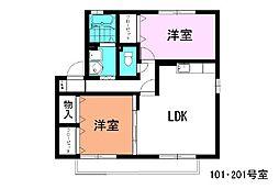 プリエ21[1階]の間取り