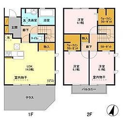仮)D−roomセントラルパークD[101号室]の間取り