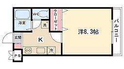 サニーサイドマンション[303号室]の間取り