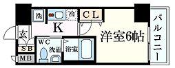 Osaka Metro御堂筋線 新大阪駅 徒歩5分の賃貸マンション 4階1Kの間取り