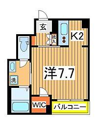 仮)柏の葉ホテルライクシャーメゾン 1階1Kの間取り