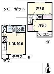 [タウンハウス] 愛知県瀬戸市坂上町 の賃貸【/】の間取り