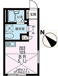 ノーブルヒル踊場(ノーブルヒルオドリバ)[1階]の間取り