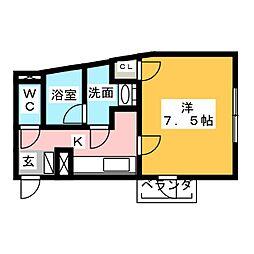 桜ヒルズ[1階]の間取り