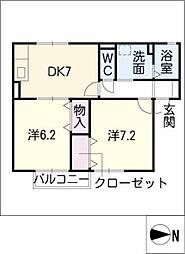 ピュアハウス B棟[1階]の間取り