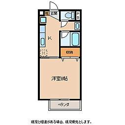 メゾン稲丘A[1階]の間取り