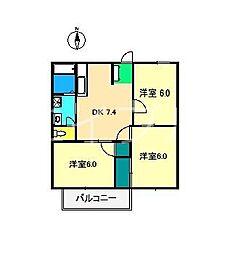 アーリー有ノ木[2階]の間取り