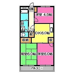 グレース山田[1階]の間取り
