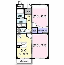 レインボ−ピ−ク[2階]の間取り
