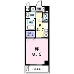 沖縄都市モノレール 赤嶺駅 徒歩26分の賃貸マンション 5階1Kの間取り