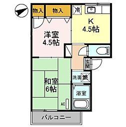ピュアハイムII[1階]の間取り