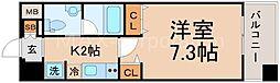 セレッソコートリバーサイドOSAKA[9階]の間取り
