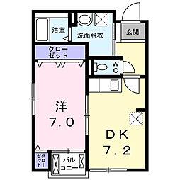 西国PLANETマンション[2階]の間取り