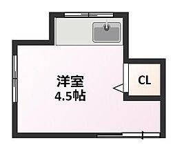 岡本荘[1階]の間取り