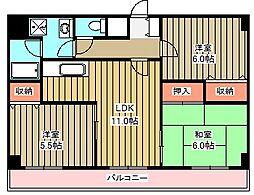 小金井本町ビル[912号室]の間取り