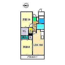 ソレイユ神田[2階]の間取り