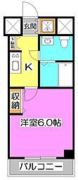 KWレジデンス高野台[6階]の間取り