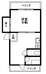 東京都目黒区目黒本町1丁目の賃貸マンションの間取り