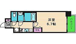 JR大阪環状線 鶴橋駅 徒歩2分の賃貸マンション 10階1Kの間取り