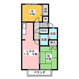 パルティール'95[2階]の間取り