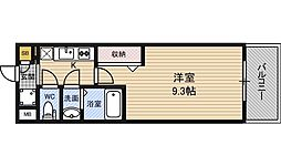 Luxe淡路[2階]の間取り