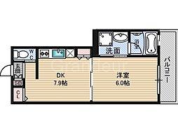 リシュ鶴見[2階]の間取り