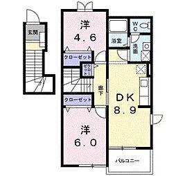 ドゥ・アスティオスI[2階]の間取り