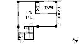 大阪府箕面市桜井3丁目の賃貸マンションの間取り