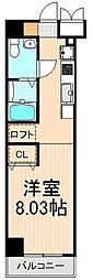 レジディア上野御徒町[1203号室]の間取り