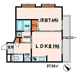 Maison HACHI 3階1DKの間取り