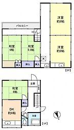 [一戸建] 千葉県船橋市前原西2丁目 の賃貸【/】の間取り