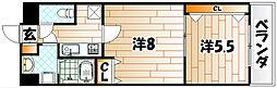 プリンセス香春口[9階]の間取り