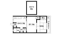 メゾンド広田[202号室]の間取り