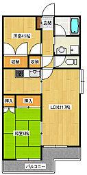 JR仙山線 東照宮駅 徒歩6分の賃貸マンション 1階2LDKの間取り