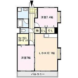 クロスロード[2階]の間取り