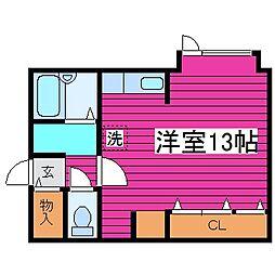 北海道札幌市北区篠路三条7丁目の賃貸マンションの間取り