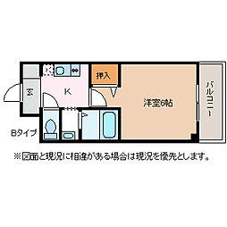 ロワール中央ビル[5階]の間取り