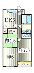 谷川第二マンション[3階]の間取り