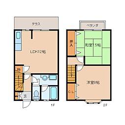 [テラスハウス] 奈良県香芝市五位堂2丁目 の賃貸【/】の間取り