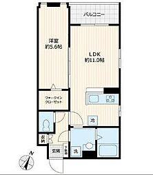 東急多摩川線 鵜の木駅 徒歩3分の賃貸マンション 3階1LDKの間取り