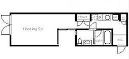 ラディア北新宿[203号室号室]の間取り