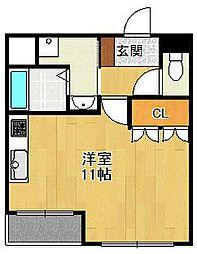 兵庫県宝塚市中筋2丁目の賃貸アパートの間取り