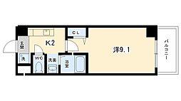 プラネシア星の子京都駅前[202号室号室]の間取り